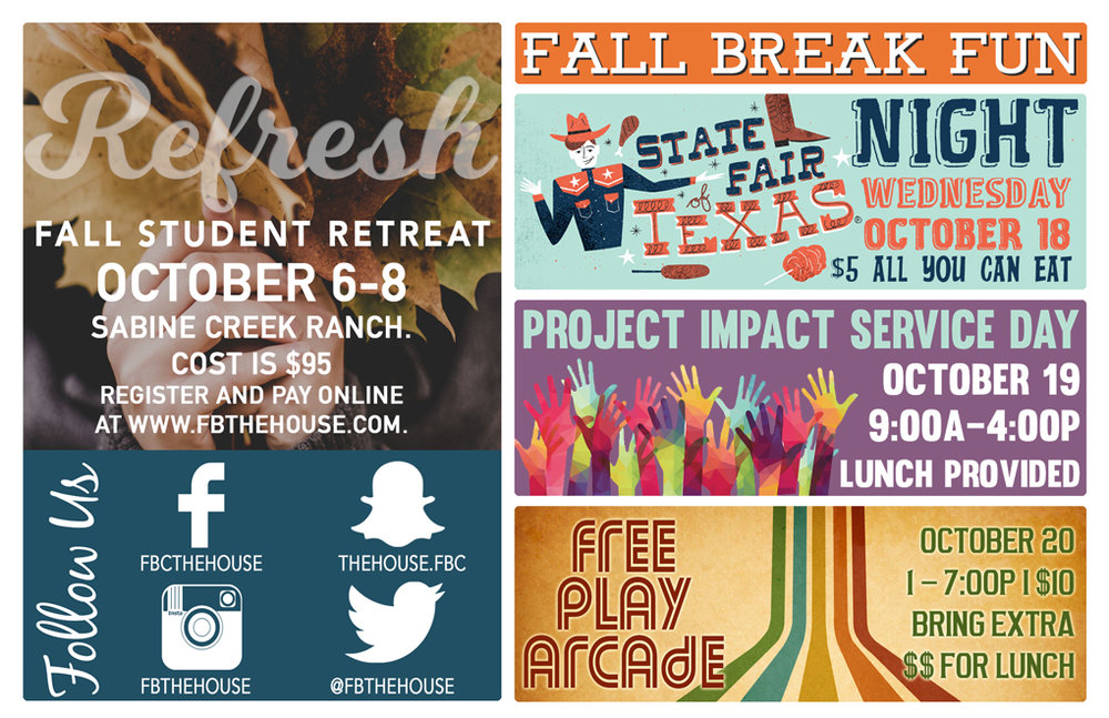 Mark your calendars for our  upcoming BIG events!!! -