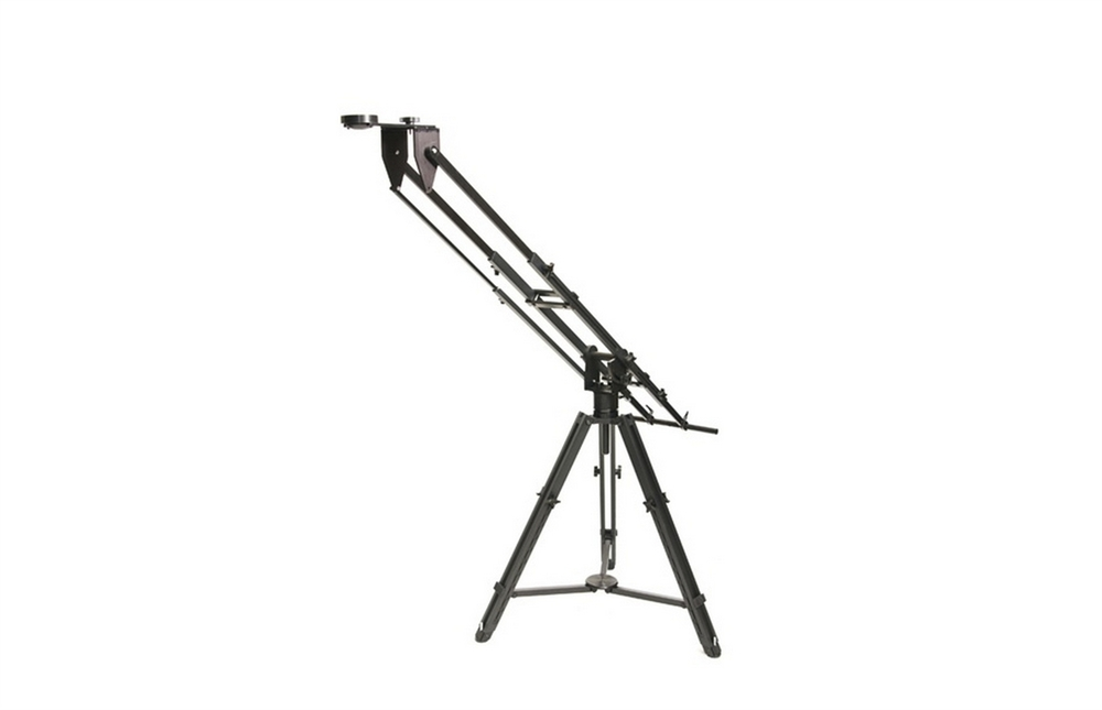 Kessler Pocket Jib with heavy duty tripod and counterweights, supports up to 20lbs fully extended (57 inches from tripod to camera), 40lbs at minimum extension (32 inches). 15 minutes set up time.