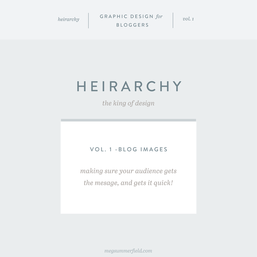 Graphic Design for Bloggers | Effective Hierarchy for Blog Posts