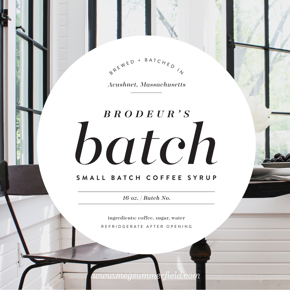 Brodeurs Batch Small Coffee Syrup | Batched and Brewed in Acushnet Massachusetts