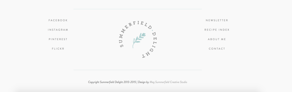 Summerfield Delight | Squarespace Footer in Five Template