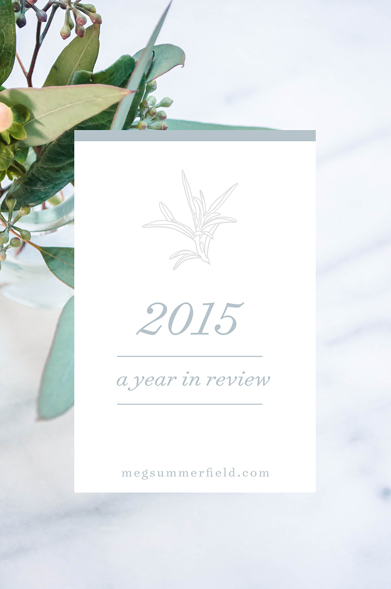 Meg Summerfield Studio Graphic Designer Freelance | 2015 Year in Review
