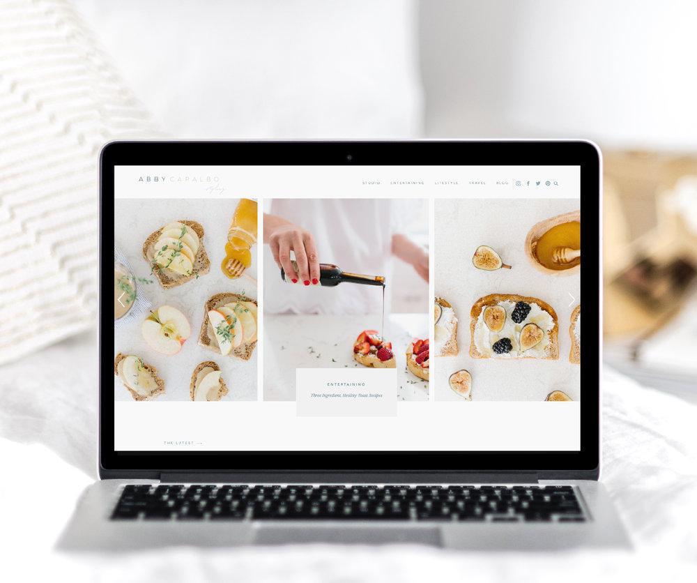Feminine Squarespace Blog Design