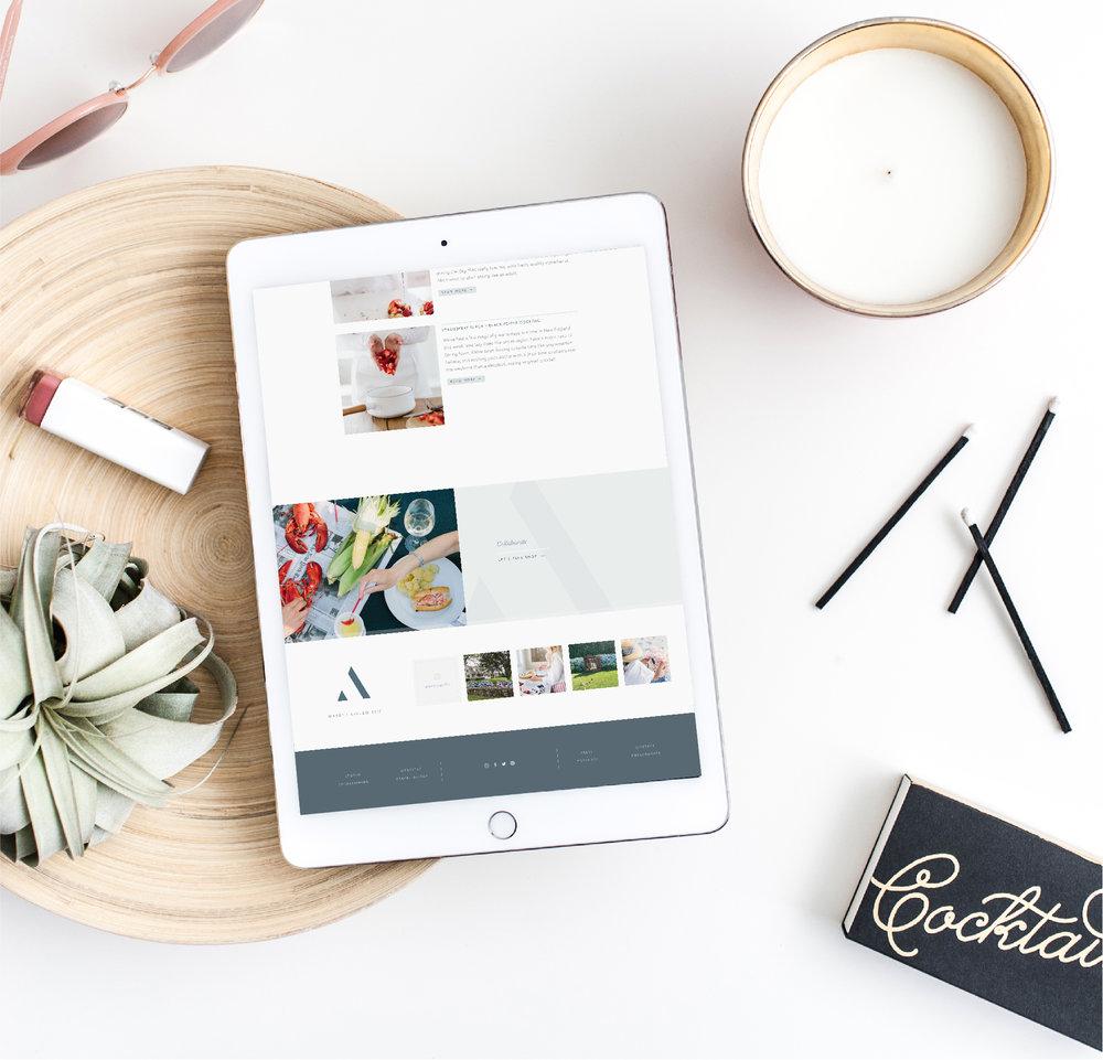 Blogging Website Design for Squarespace