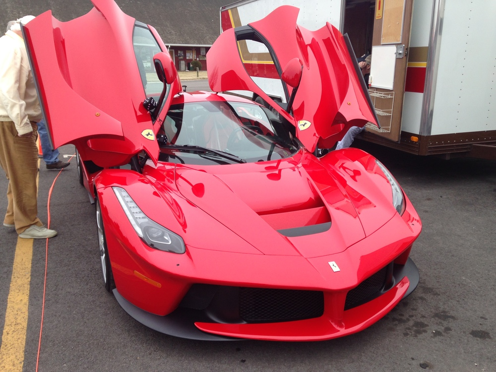 La Ferrari in the Paddock at VIR.