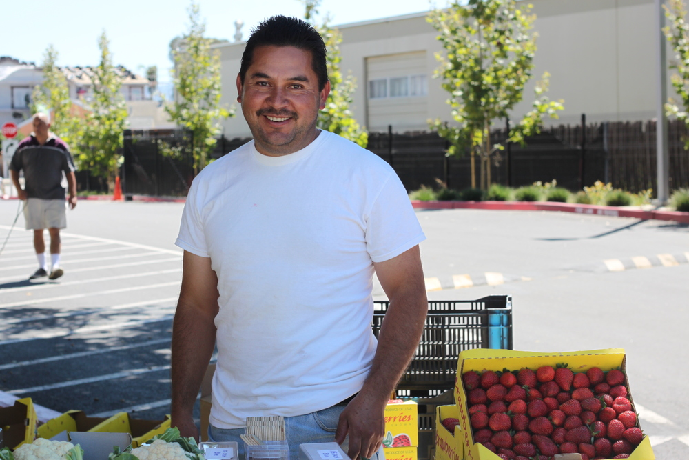"Jose Gallardo always welcomes his clients at the market with a sincere smile and he takes great pride in explaining why he produces healthy greens and berries. His father passed away because he was exposed to many chemicals while he was working in a conventional strawberry farm in Mexico. Since then, Jose has been committed to grow organically because ""a child who eats a strawberry shouldn't eat a spoon of chemicals, but just a strawberry."""