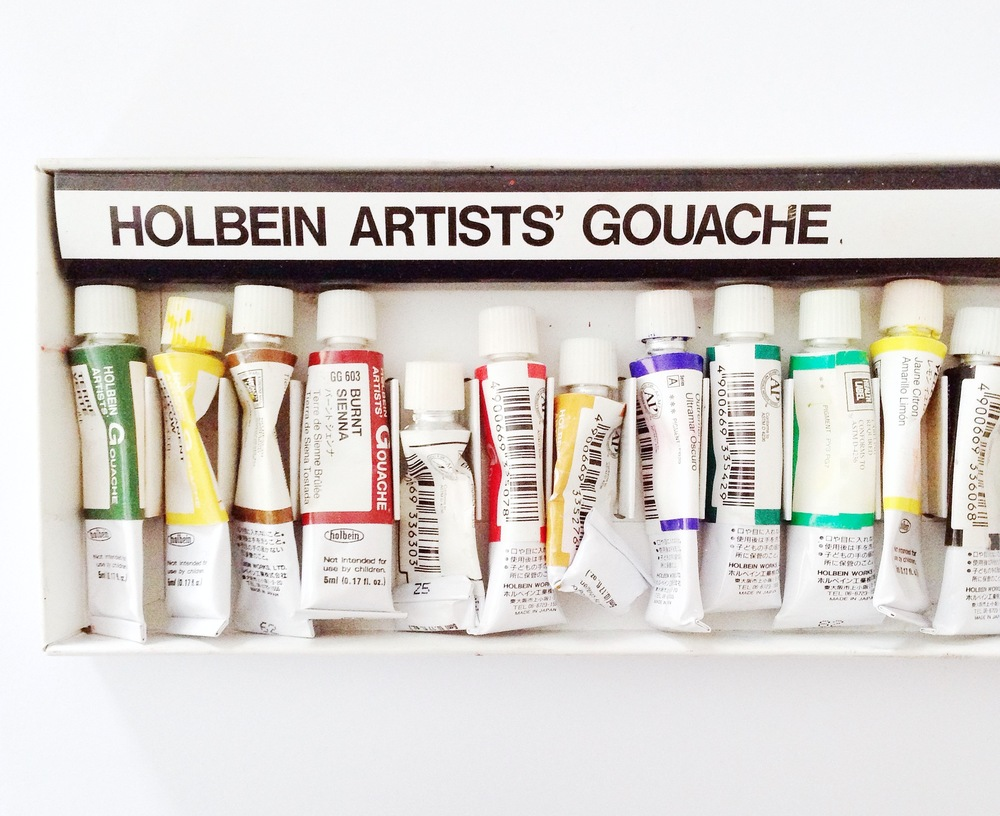 HOLBEIN GOACHE: SET of 18 - $62.50 from Blick.com