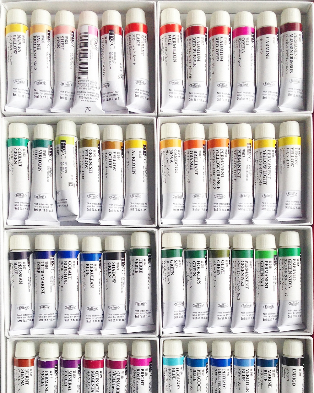 HOLBEIN 60 COLOR WATERCOLOR SET