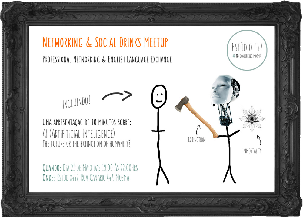 Estúdio447 AI Event poster - Coworking