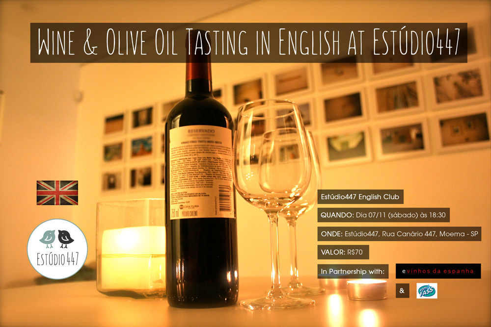 Estúdio447 Coworking Moema & English Club - Wine tasting night