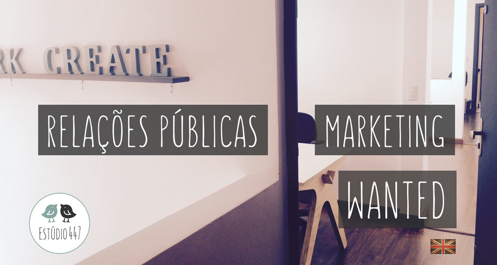 PR & Marketing no Est�dio447 Coworking Moema & English Club