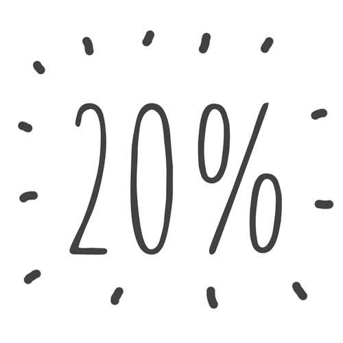 20% desconto Estúdio447
