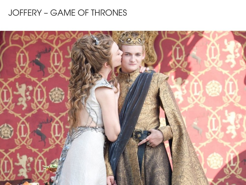 Joffery - Game of Thrones