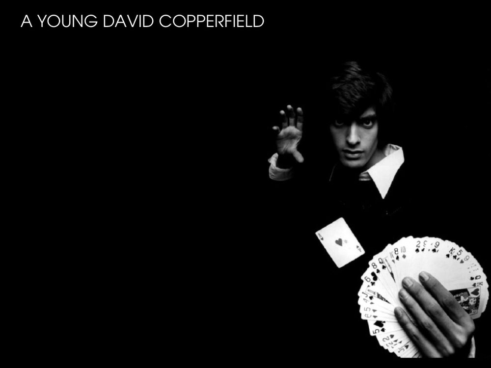 A young David Copperfield