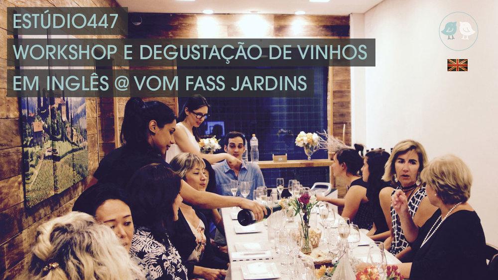 Estúdio447 Workshop e degustação de vinhos em inglês.