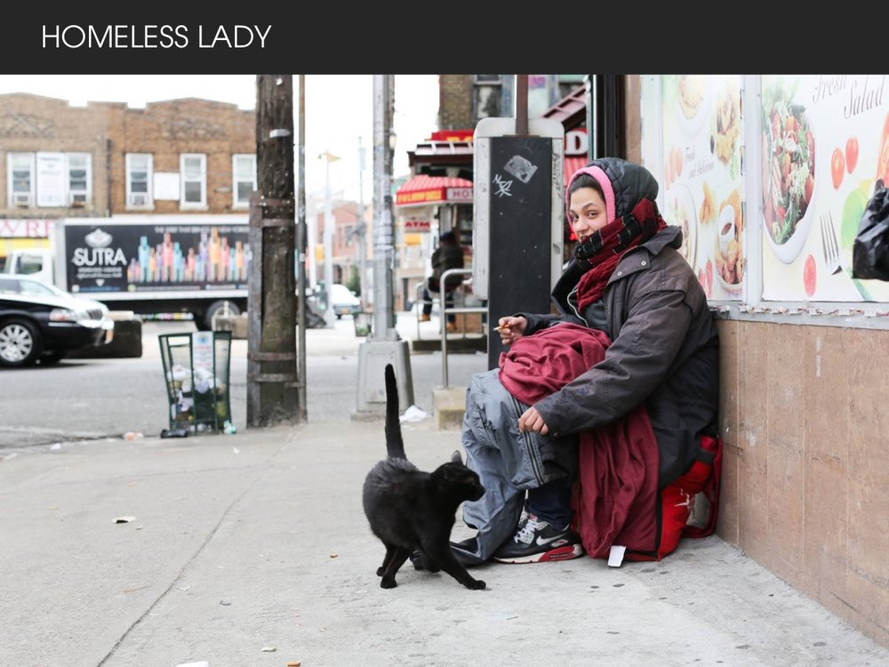 HOMELESS LADY