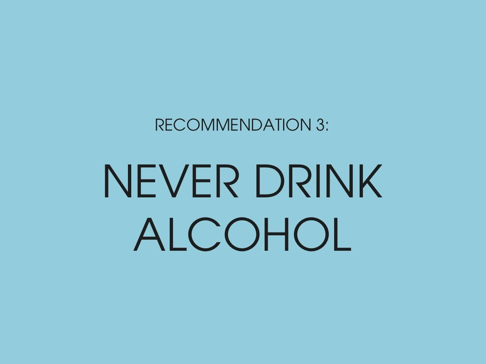 Nietzsche - Never drink alcohol