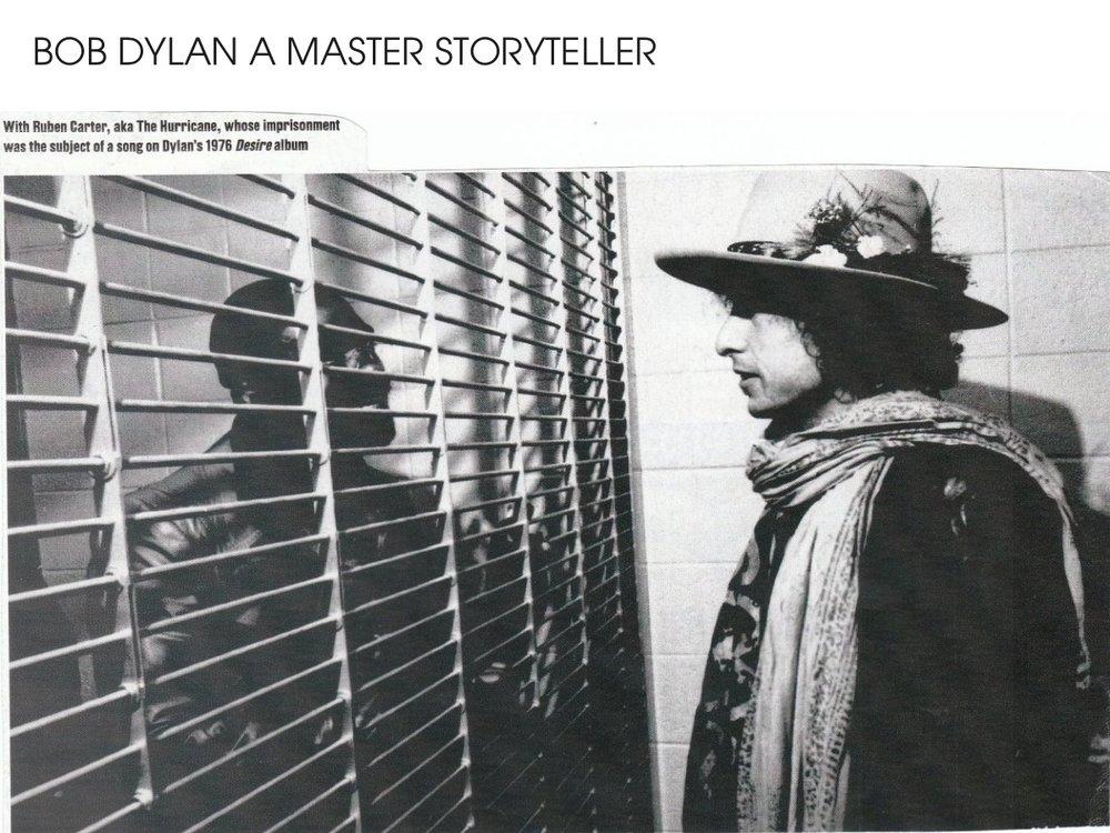 Bob Dylan a master storyteller