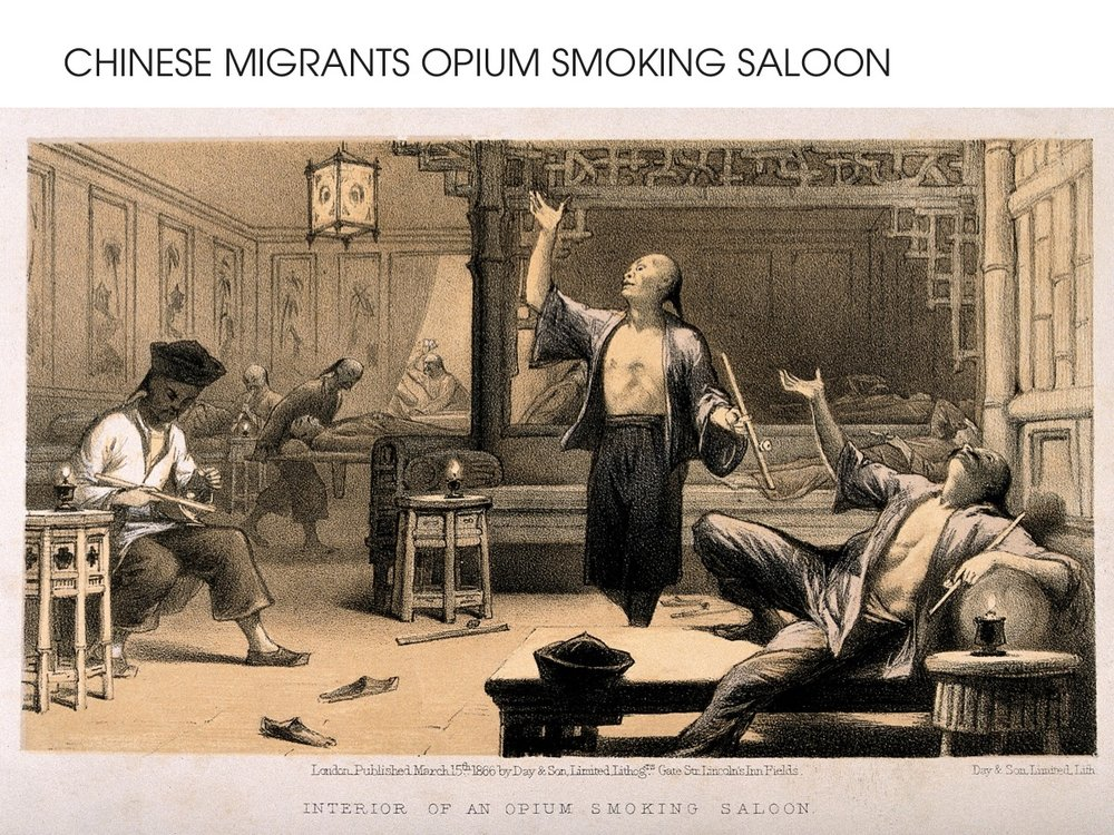 Opium Smoking Saloon