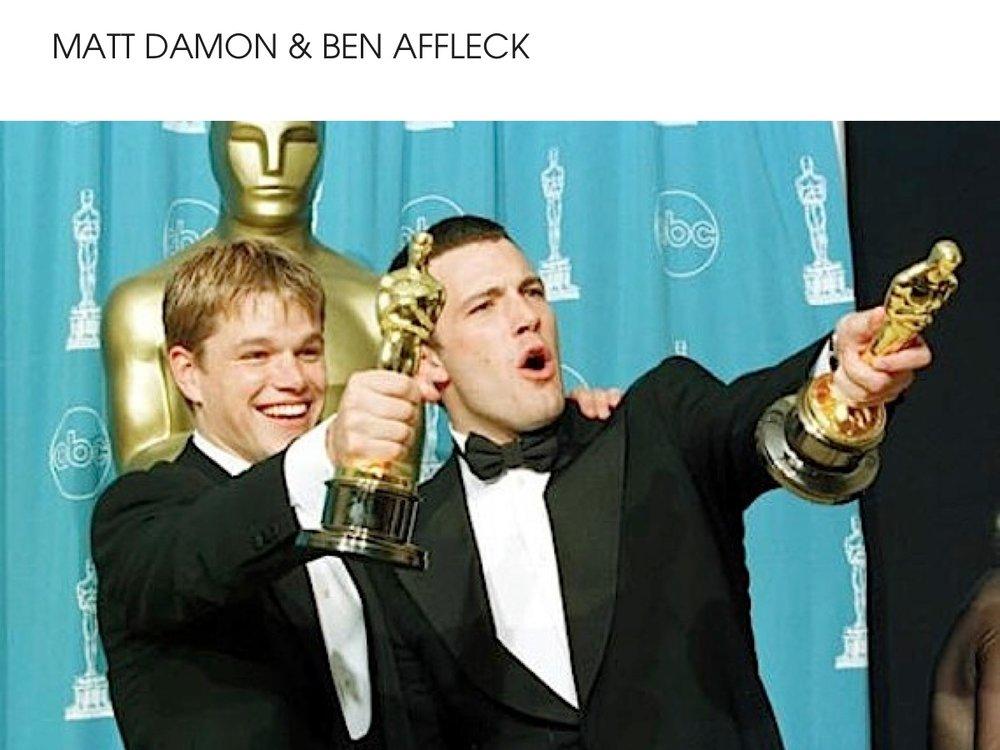 Matt Damon & Ben Affleck Oscar