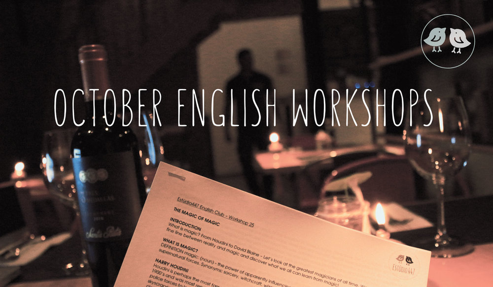 October English Workshops