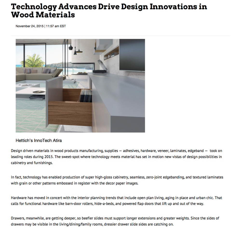 Technology Advances Drive Design Innovations in Wood Materials ...
