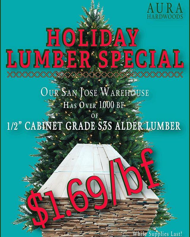 "San Jose SALE: 1/2"" Alder Lumber"