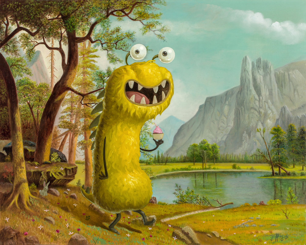 Landscape With Monster
