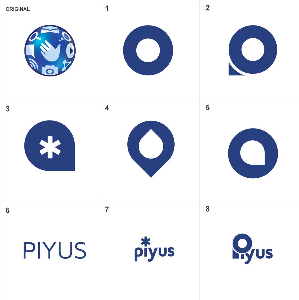 Piyus logo designs ©Douglas Lussier