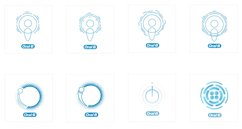 Logo Designs for Oral-B toothbrush ©Douglas Lussier
