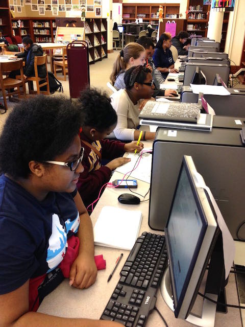 20141022 Lindblom Students on Computers from the Side Smaller.jpg