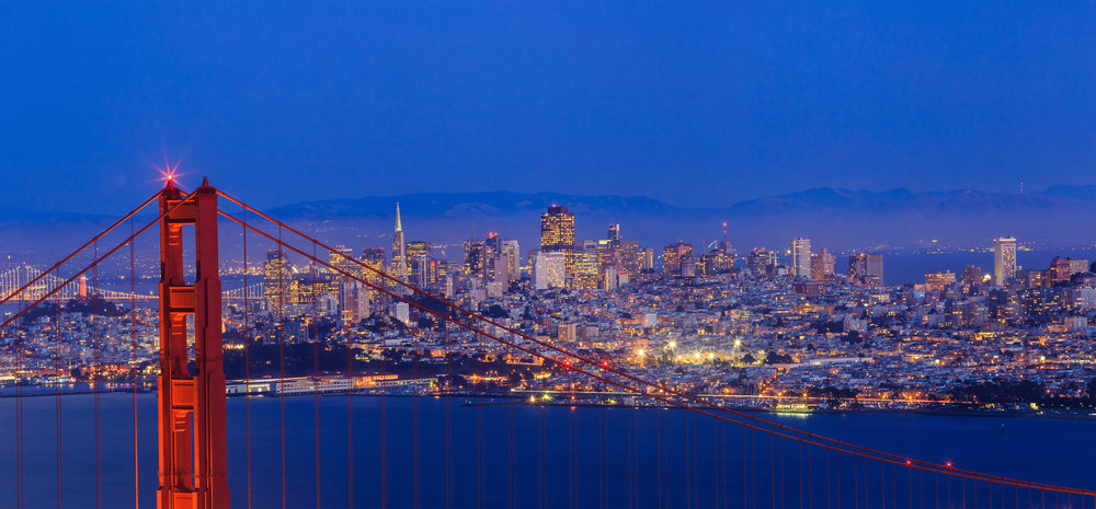 A view of the city from the Marin Headlands
