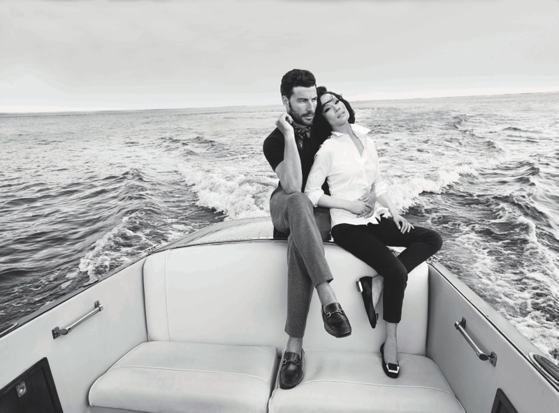 Bruno Magli ad campaign with Lucy Liu. Shot by  Ruven Afanador  on Hudson River.