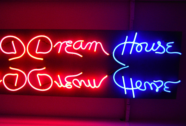 dream house sign