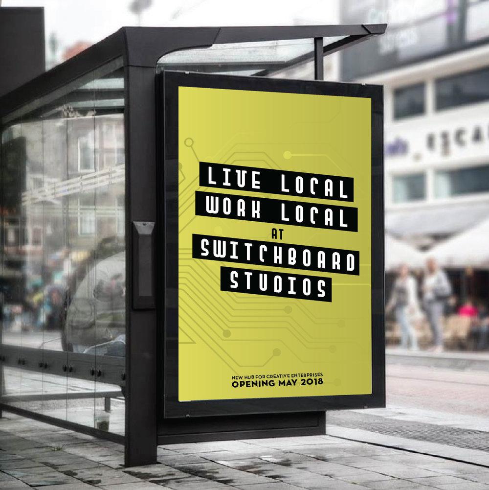 bus stop ad design