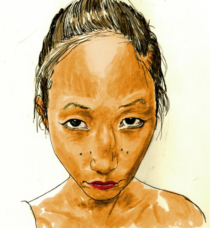 Eunice. face study