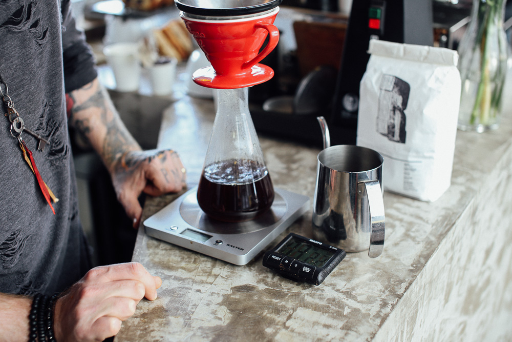 Yorks Coffee Guide - Pouring V60 With Richard
