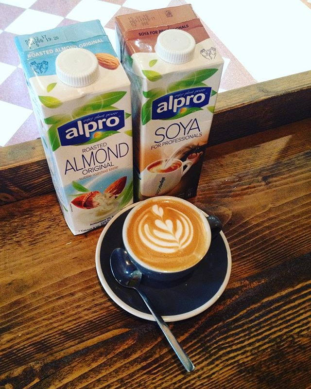 We cater for milk, soya and almond lovers. Come visit us this weekend for a coffee ☕️#yorksespressobar #yorkscafe #independentbirmingham  #birminghamcafe #almondmilk #soyamilk #vegan #vegetarian #alpro #barista #latteart #flatwhite #coffee