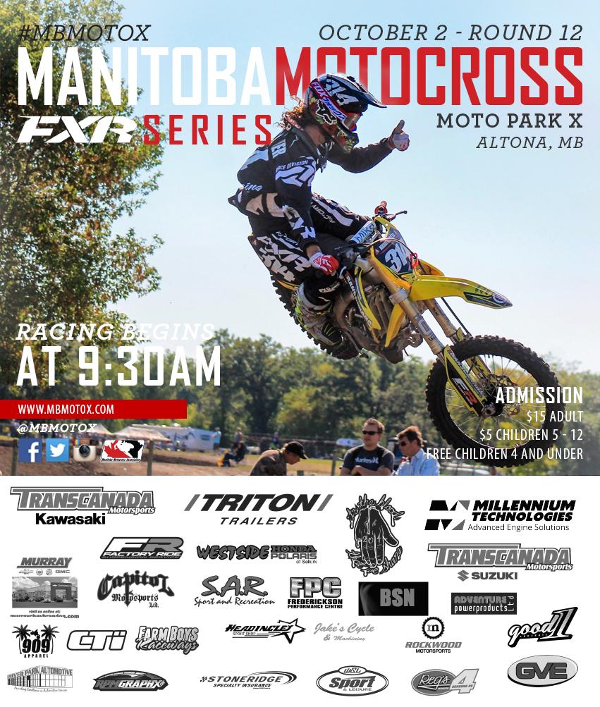 2016 Round 12 Moto Park X Altona Manitoba Motocross
