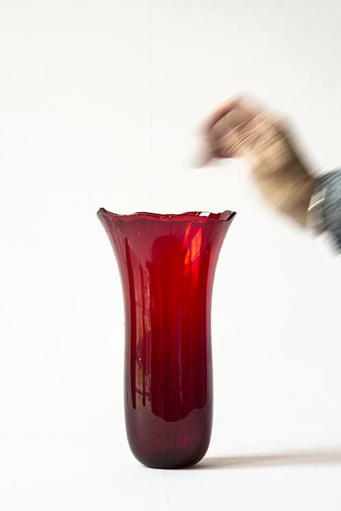 Rød vase Lone Eeg