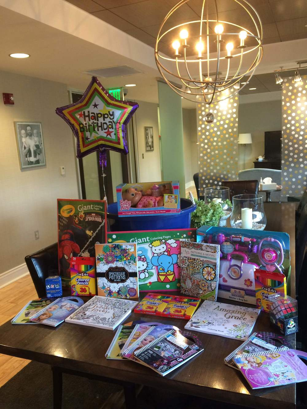 "Advisory Council member Ruth Keeley dropped off this awesome collection of toys to help celebrate the NWA Family Room's 3rd Anniversary on Monday! Our favorite is the ""doctor's play set""!"