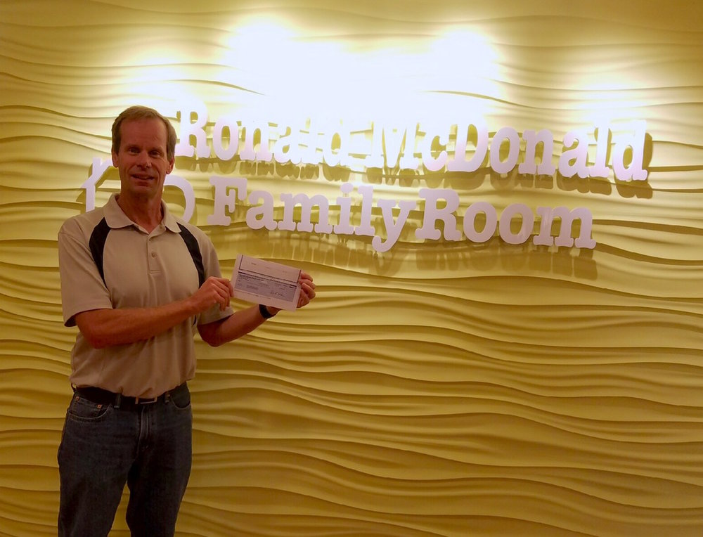 Tim Ellsworth from Georgia Pacific dropped off a donation of $2,500 to the Fort Smith Family Room this week, thank you Tim & Georgia Pacific!