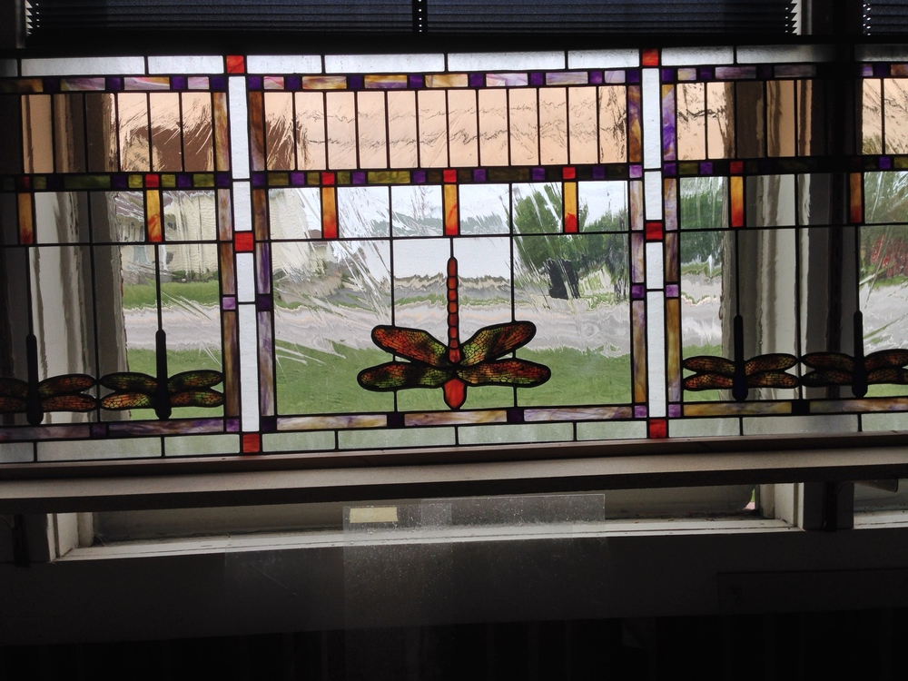 Dragonfly windows installed in entryway