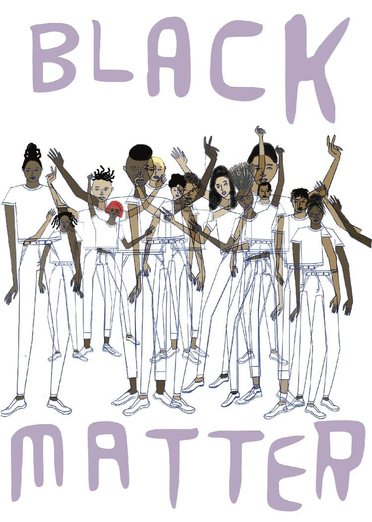 Rafael Melendez,Black Lives Matter, 2016