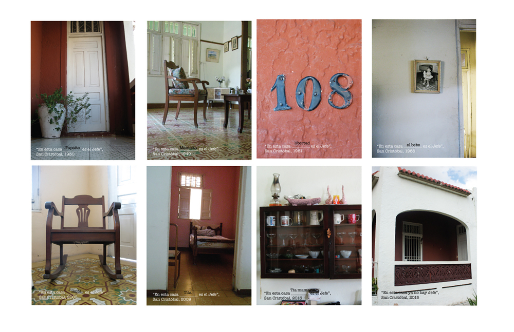 "Iliana Emilia Garcia In this house ___ is the boss/ En esta casa 2014 color photograph 20"" x 16.4"" each"