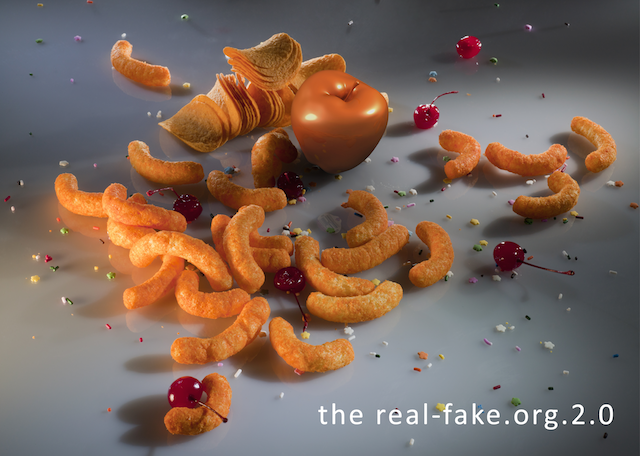 "Claudia Hart, More Food for Children, from the series ""The Real and the Fake,"" 2011"