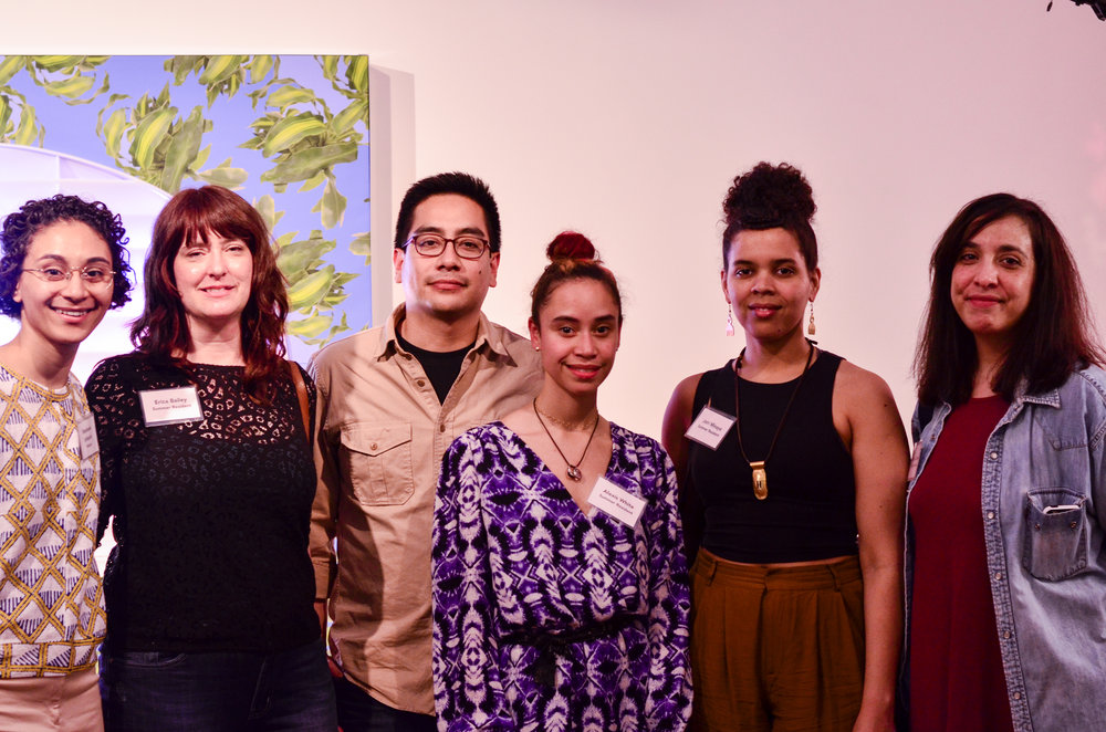 - Director Stephanie Lindquist with 2017 Summer Resident Artists.