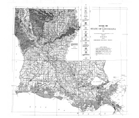 Geologic Map of Louisiana Graphic Scale Shreveport Geological Society