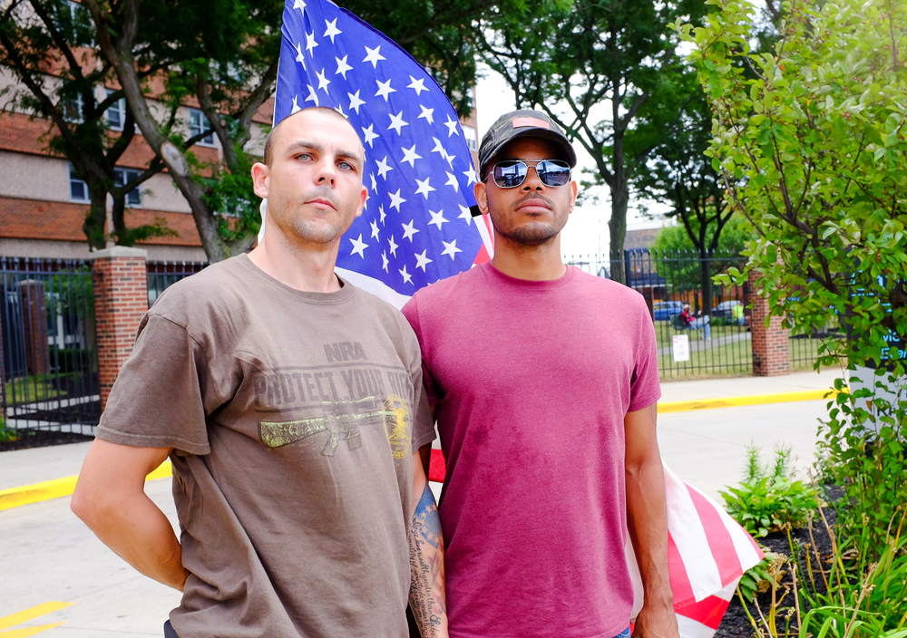 Two Iraq vets who drove 2600 miles from San Jose, California, to support the nomination of Donald J. Trump.