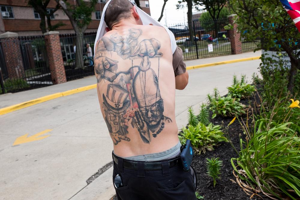 Sean Whitty's back tattoo.